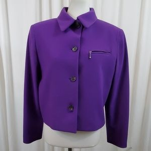 Casual Corner Purple Buttondown Jacket